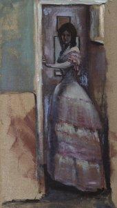 William Rothenstein Woman Standing in a Doorway c.1894