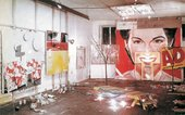 James Rosenquist's studio at 429 Broome Street, New York, 1963