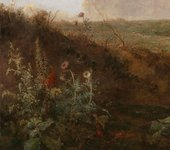 Mousehold Heath, detail of the left foreground