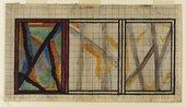 Vanessa Bell Preliminary Design for Lady Hamilton Rug 1914