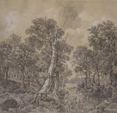 Thomas Gainsborough, Landscape after 'La Forêt' by Jacob van Ruisdael 1746–7