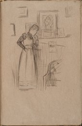 William Rothenstein Female Figure in Interior c.1890