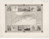 Alexandre Vuillemin, Carte des pays barbaresques du nord de l'Afrique 1844