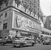Willem van de Poll Smoking Camel billboard in Times Square, New York, 1948