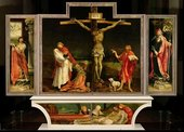 Matthias Grünewald Isenheim Altarpiece c.1510–15, view with the panels closed