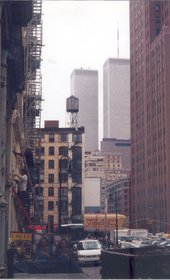 Photograph of the Twin Towers, New York 2001