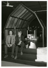 Denis Masi's Shrine 1988, with the artist and Angela Weight in the foreground