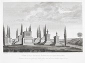 Robert Home Burial Ground at Bangalore engraved by James Fittler 1792