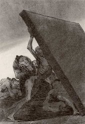 "Francisco Goya Los Caprichos Plate 59, ""And still they don't go!"" 1799"