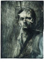 Frank Auerbach Self-portrait drawing