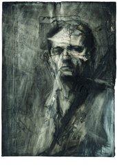 Frank Auerbach Self-portrait drawing