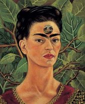 Frida Kahlo Thinking of Death