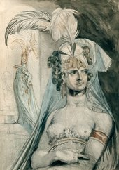 Henry Fuseli Courtesan with an Elaborate Head-dress