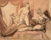 Henry Fuseli Erotic scene with a Man and Three Women