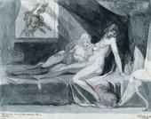 Henry Fuseli An Incubus Leaving Two Sleeping Women 1810