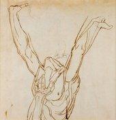 Henry Fuseli Study of a figure circa 1774-1778