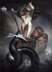 Henry Fuseli Thor Battering The Mitgard Serpent 1790