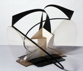 Naum Gabo, Construction in Space: Two Cones 1936, replica 1968