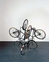 Gabriel Orozco Four Bicycles There is Always One Direction 1994 sculpture using four bicycles with the wheels all pointing in different directions