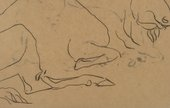 Henri Gaudier Brzeska Detail of Sketch of a Bison c1912 to 1913