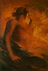 George Frederic Watts' Satan painted in 1847