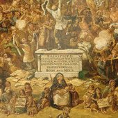 George Cruikshank The Worship of Bacchus 1860 to1862 detail of the painting