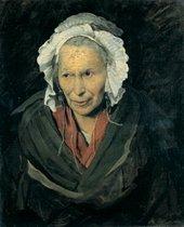 Theodore Géricault - Monomania: Portrait of an Excessively Jealous Woman  about 1819-22, woman in bonnet