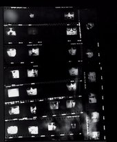 Peter Gidal Contact sheet from Heads 1969