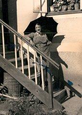 Gilbert in San Martino, Badia, Dolomites, Italy early 1950s