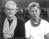 Pearls, Sydney, 2003 Sydney University academics in a suburban back garden, wearing (left) Lin Yutang, My Country and My People, London: Heinemann, 1962 and Joseph Conrad, Under Western Eyes, Harmonds
