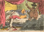 James Gillray Duke William's Ghost, published by Hannah Humphrey, 7 May 1799