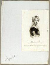 Portrait of Giuditta Pasta included in Joseph Cornell's Giuditta Pasta Dossier 1940s–1960s