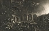 John Martin Plate from Illustrations to the Bible: Belshazzar's Feast 1835