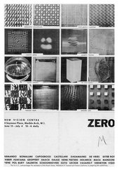 Poster for the Group Zero exhibition at New Vision Centre 1964