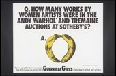 Guerrilla Girls [no title] 1985–90 Screenprint poster 430 x 560 mm