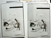 Fig.6 Two of six prints from Hamilton's earliest negative of the painting.