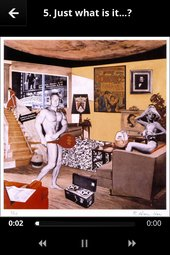 Screenshot from Richard Hamilton exhibition app