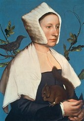 Hans Holbein Lady with a Squirrel and a Starling
