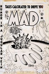 Harvey Kurtzman MAD #6 1953 Drawing for cover