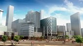 Sheppard Robson Media City UK Salford Quays Manchester Artists impression