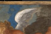 John Hayls A Portrait of a Lady and a Boy with Pan 1655-9 detail of wing