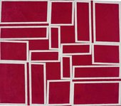 Hélio Oiticica Metaesquema – Red going through White 1958
