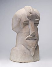 Henri Gaudier-Brzeska 'Hieratic Head of Ezra Pound' 1914