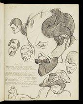 Henri Gaudier-Brzeska, Sketchbook titled 'Le Chaos' 1910