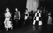Guests at the 'Black and White' Penwith Arts Ball, 1963
