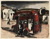 Untitled Sketch of Bus, Josef Herman