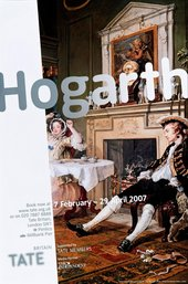 Exhibition poster: Hogarth