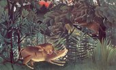 Henri Rousseau, The Hungry Lion Throws itself on the Antelope 1905
