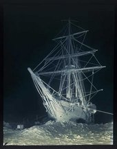 Frank Hurley The Long, Long Night Photograph negative