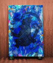 Chris Ofili Mono Azul,1999–2002